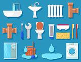 plumbing icons for bathroom
