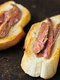 rustic spanish anchovies on toast