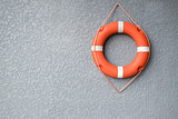 Life buoy hang on the wall