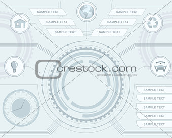 Abstract futuristic interface