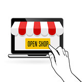 Open your online shop - startup or e-commerce concept
