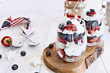 American Blueberry Strawberry Trifles