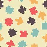 Seamless pattern pieces of puzzle