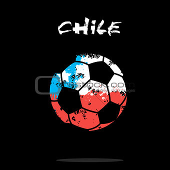 Flag of Chile as an abstract soccer ball