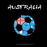 Flag of Australia as an abstract soccer ball