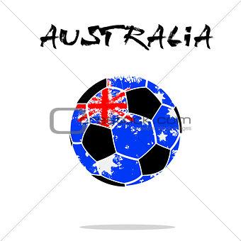 Flag of Australia as an abstract soccer ball