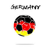 Flag of Germany as an abstract soccer ball