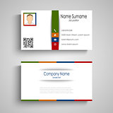 Business card with colorful slat template