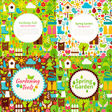 Flat Garden Spring Postcards