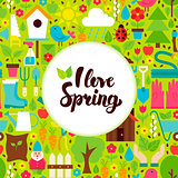 Flat I Love Spring Greeting