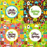 Flat Spring Garden Postcards