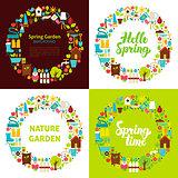Spring Garden Flat Circles