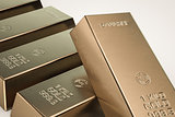 gold bars isolated