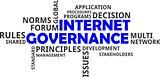 word cloud - internet governance