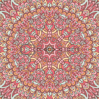 abstract floral mandala seamless pattern