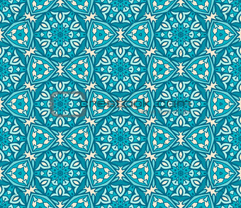 blue classic geometric seamless pattern