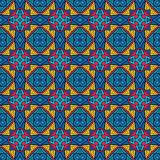 abstract blue square tile geometric pattern