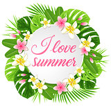 Summer round background