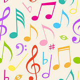 Music seamless pattern