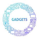 Gadget Line Icon Circle Concept