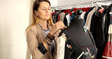 Woman working with mannequin