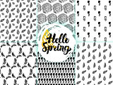 Nature Spring Seamless Patterns