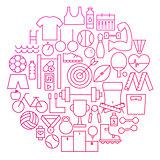 Sport Line Icon Circle Design