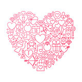 Valentine Day Line Icon Heart Design