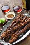 chinese lamb skewers, yang rou chuan