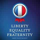 France glag - Liberty, equality, fraternity