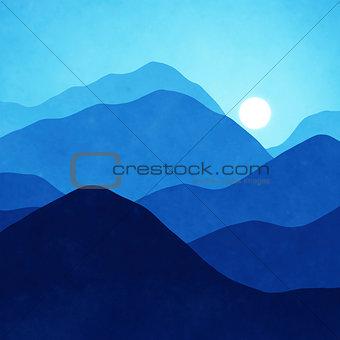 blue landscape background