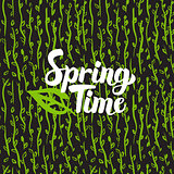 Spring Time Hand Drawn Card
