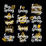 Spring Time Hand Drawn Quotes