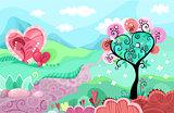 heart landscape