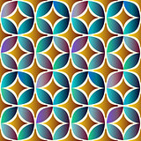 Seamless pattern with bright geometric elements