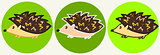 Cute cartoon hedgehog icons