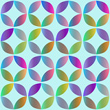 Seamless pattern with rounded geometric elements
