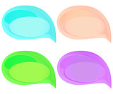 Set of cute colorful speech bubbles
