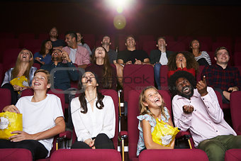Audience In Cinema Watching Comedy Film