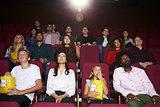 Audience In Cinema Watching Film