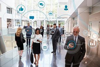 Business Men And Women Using Digital Technology