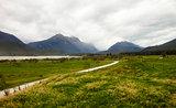 Landscape Near Queenstown In New Zealand's South Island