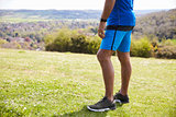 Close Up Of Mature Man Jogging In Countryside