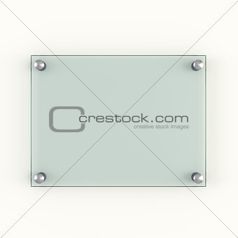 Green protection glass plate with metal rivets