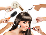 Hair style and make-up
