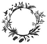 International Day for Biological Diversity round frame elements nature
