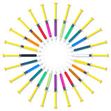 Colorful Syringes Circle Set