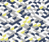 Gray irregular vector abstract geometric seamless pattern with hexagons