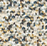 Irregular vector abstract geometric pattern with triangles and hexagons