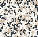 Irregular vector black and white abstract geometric pattern with triangles and hexagons